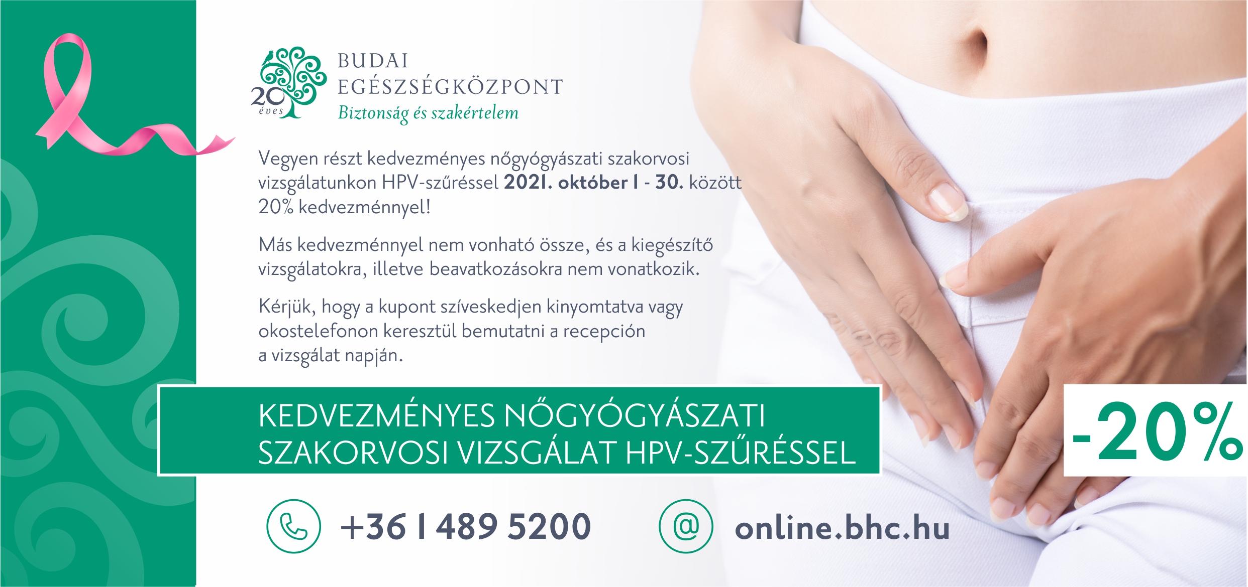 Női hónap - nőgyógyászat kupon