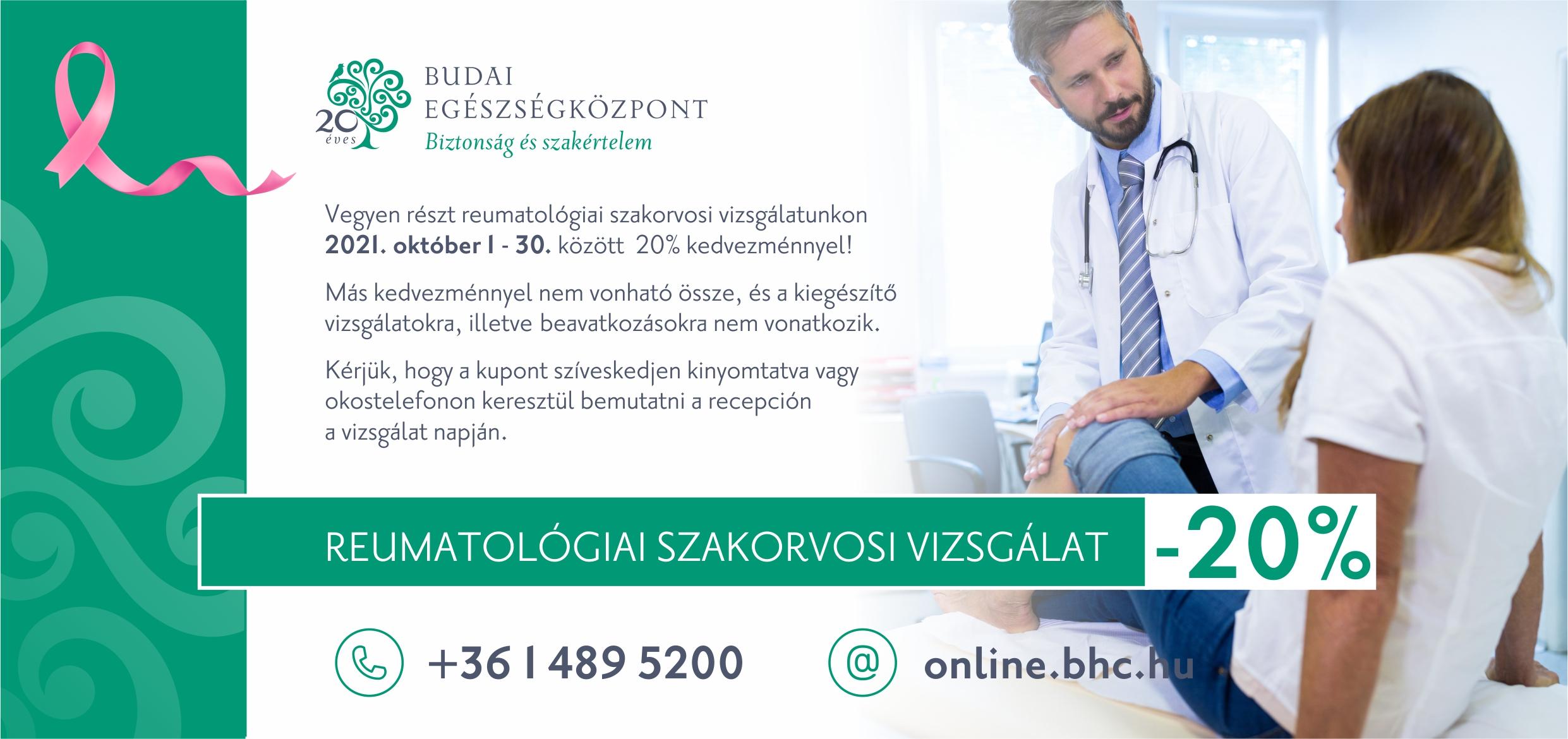 Női hónap - reumatológia kupon