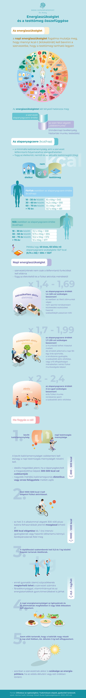 Energiaszükséglet és testtömeg infografika