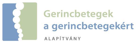 Gerincbetegek a Gerincbetegekért Alapítvány logója.