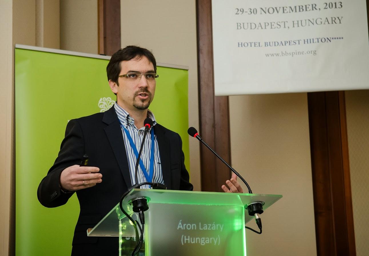Dr. Lazáry Áron a harmadik Bologna-Budapest Spine Meeting on Tumor and Osteoporosis elnevezésű kongresszusán.