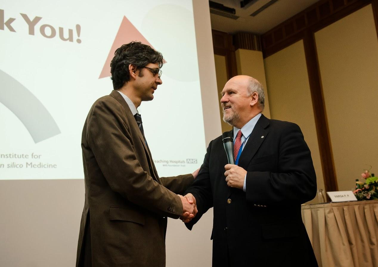 Dr. Varga Péter Pál és Dr. Lazáry Áron a harmadik Bologna-Budapest Spine Meeting elnevezésű kongresszuson.