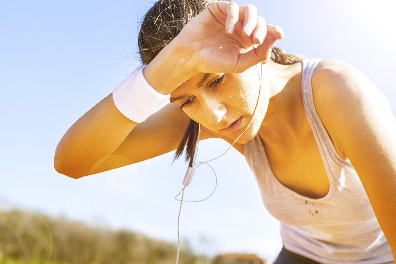 A sportolás is verejtékezéssel jár, hőségben ez jelentősen fokozódik.